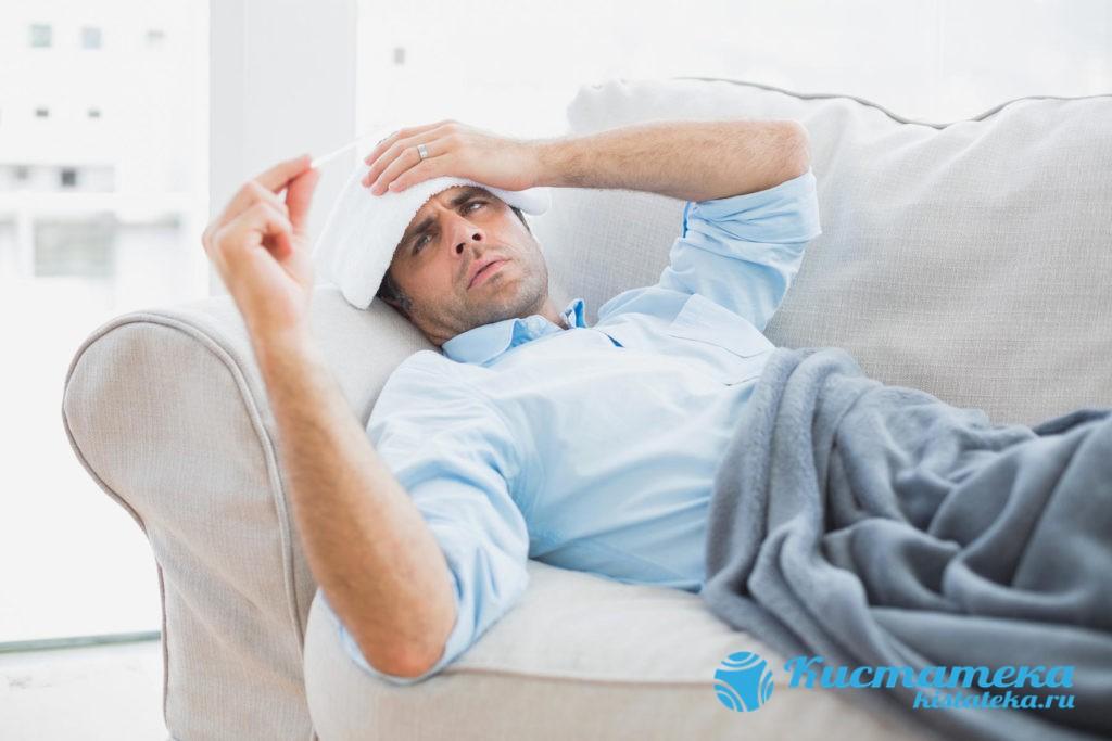 Возможно незначительное повышение температуры, сораняющейся несколько дней после операции по удалению гидроцеле яичка
