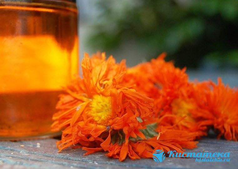Отвар из цветков календулы справляется с очагами воспаления