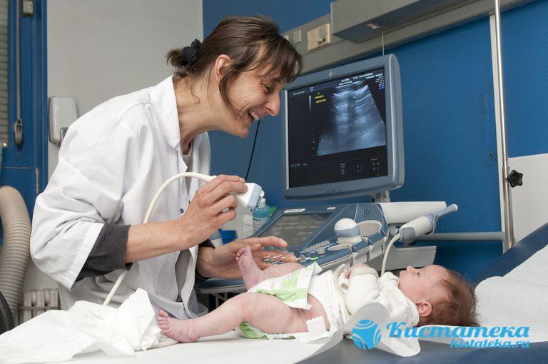 УЗИ проводят уже после 3- дней жизни ребенка