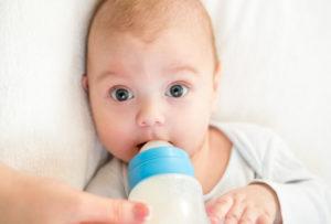 У малыша аллергия на молоко