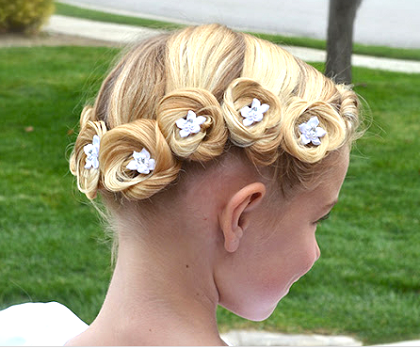 Прически на свадьбу на длинные волосы детям