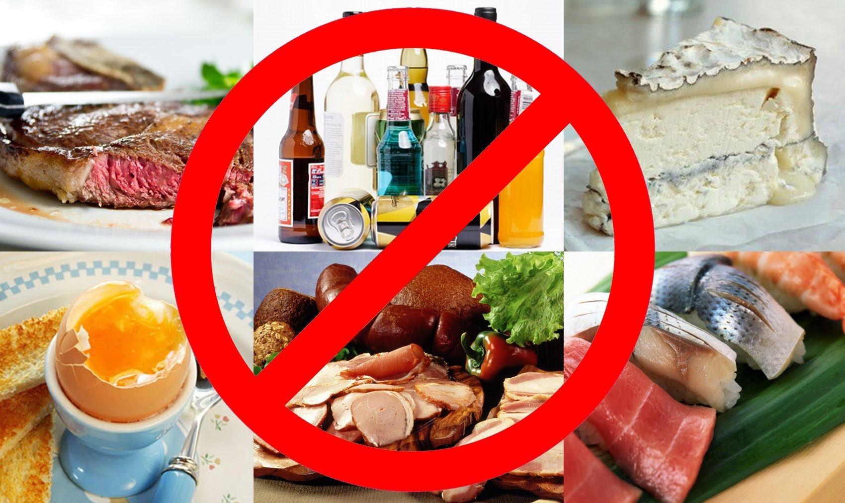 Нельзя кушать жирное мясо, жареные блюда, фаст-фуд