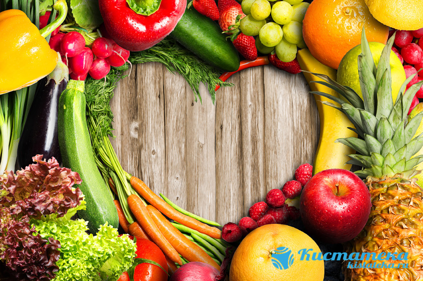 Употребляют большое количество овощей, фруктов