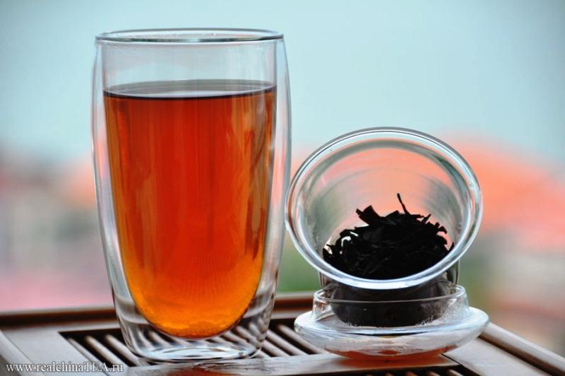 Стакан некрепкого чая