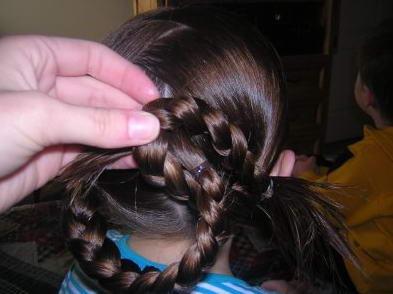 легкая прически на длинные волосы детям