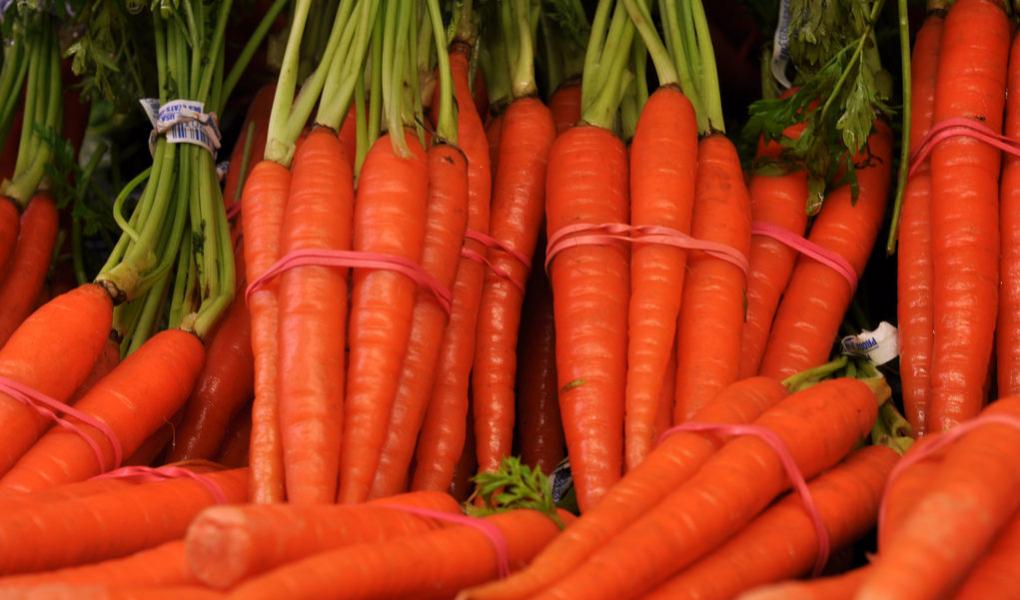много морковки