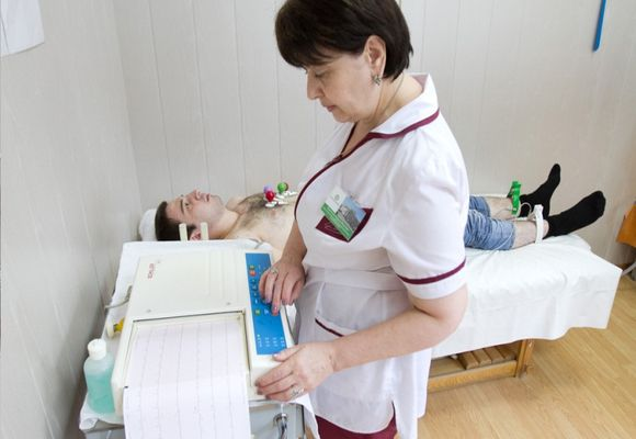 пациент на реовазографии