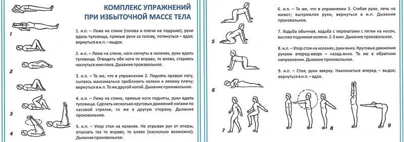 По рекомендации врача можно во время выполнения комплекса упражнений при ожирении использовать гантели.