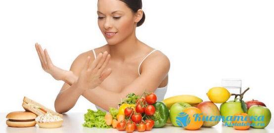 Категорически запрещено употреблять жирную пищу, различные соусы, сдобные продукты