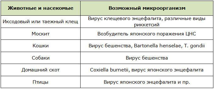 Переносчики энцефалита при его инфекционной причинной обусловленности