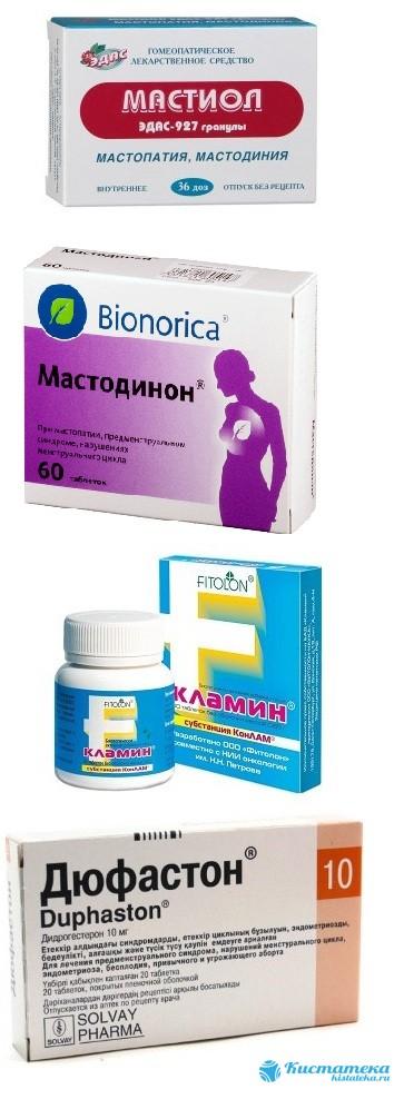 Средства для устранения мастопатии