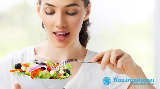 При незначительны отклонения в работе органов рекомендована корректировка питания