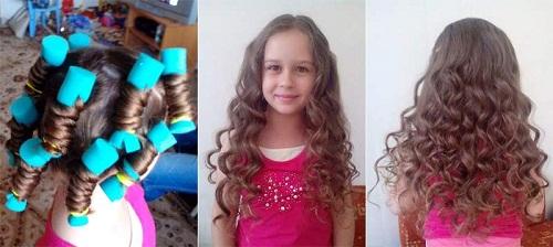 Как накрутить волосы ребенку быстро
