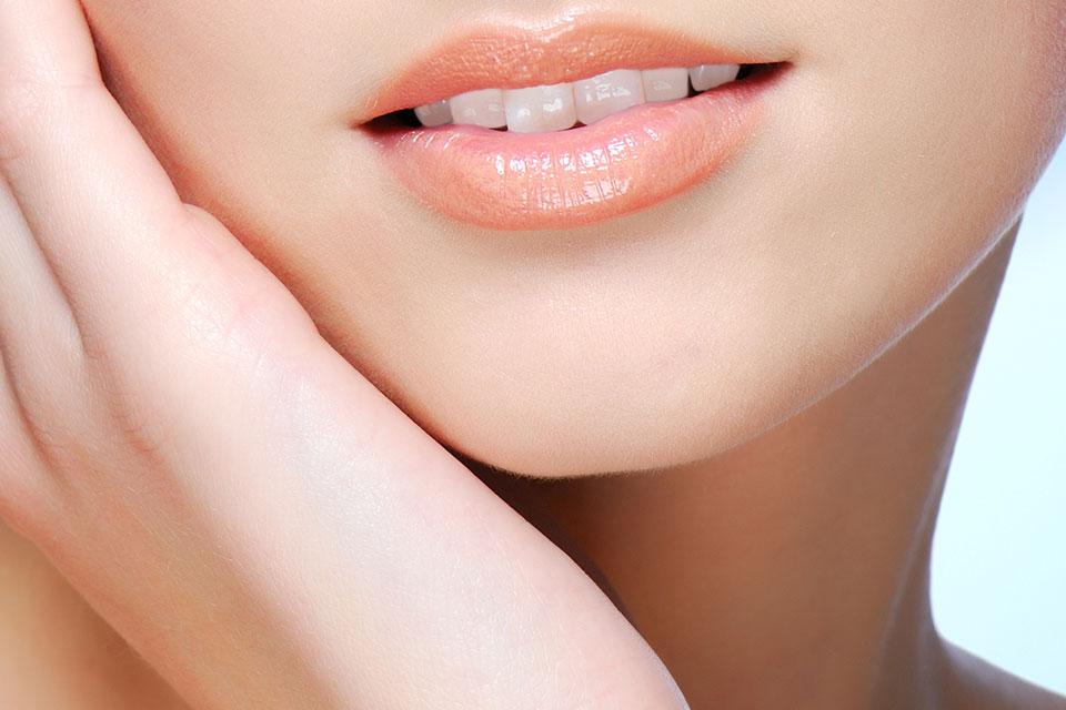 губы и подбородок