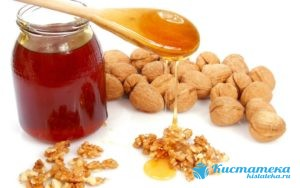 Настойка из грецки ореов, чеснока и мёда