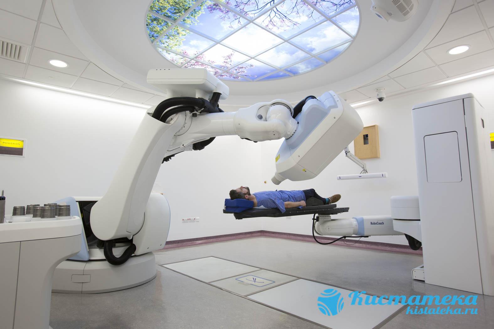 В радиоирургии используют кибернож