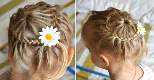 Прически для волос детей