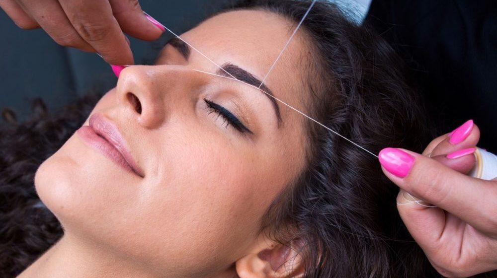 Удаление нежелательных волос ниткой