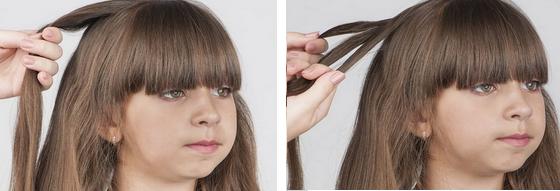 прически для детей на средние волосы пошагово