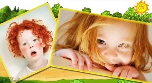 Рыжий цвет волос у детей