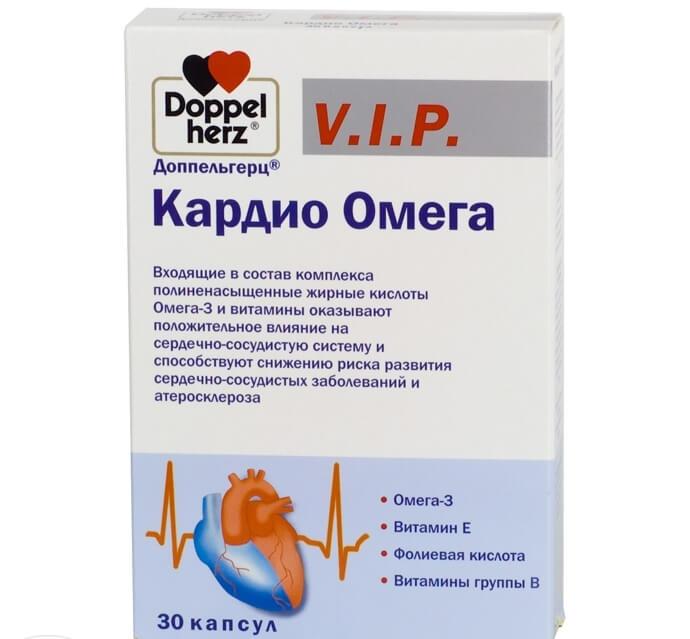 Капсулы для улучшения работы сердечно-сосудистой системы Доппельгерц Кардио Омега