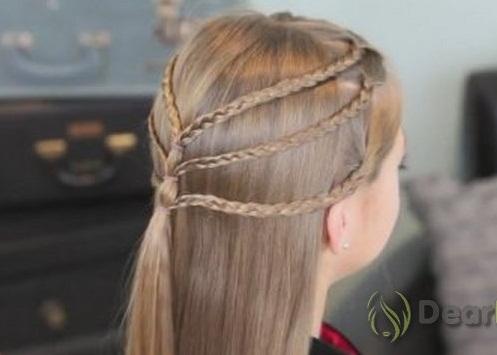 Прически ребенку на длинные волосы руками