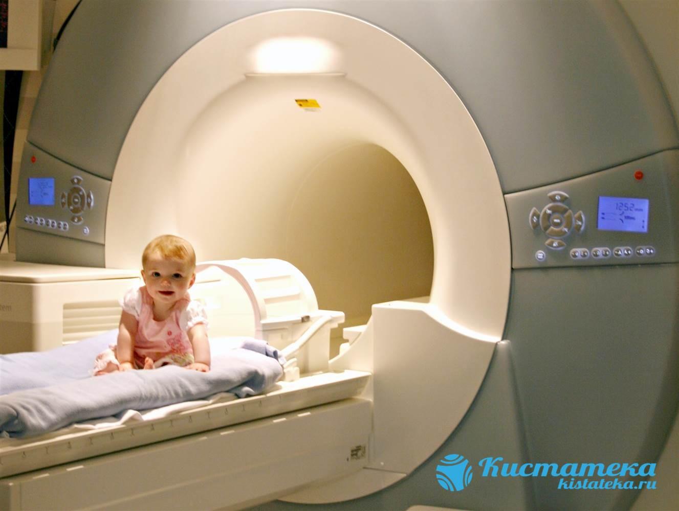 Магнитно-резонансное исследование показано новорожденным, если УЗИ не дало нужны результатов