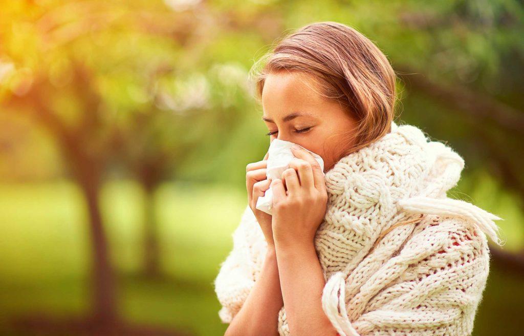 аллергия на улице