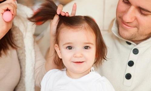 Волосы ребенка в год