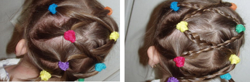 простая прическа детям на средние волосы