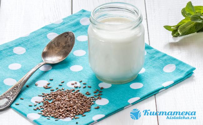 Компресс из льна и молока