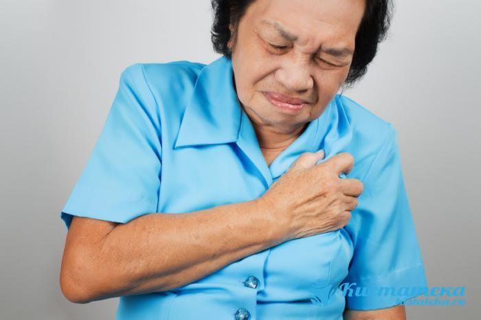 Дискомфорт появляется за грудной стенкой