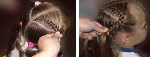 красивые прически для детей на средние волосы