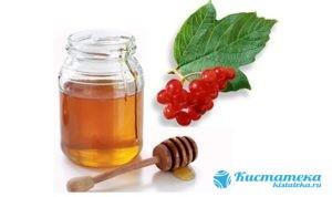 Мед с соком калины снижаюn скорость роста кисты