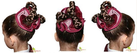 Сделать прическу ребенку на средние волосы