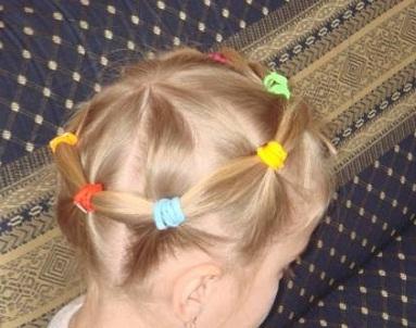 Как сделать прическу ребенку на средние волосы